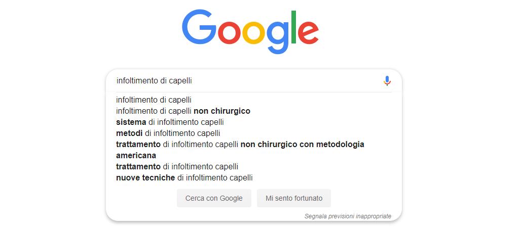 Google infoltimento capelli