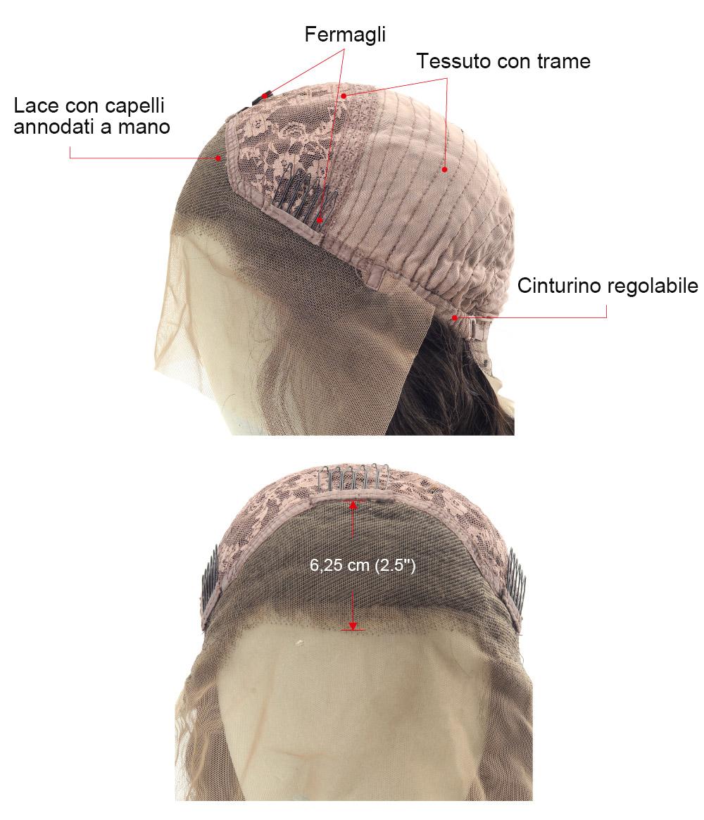LFW003 protesi capelli mossi donna