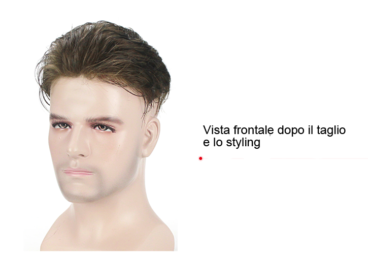 S1-V protesi di capelli per uomo