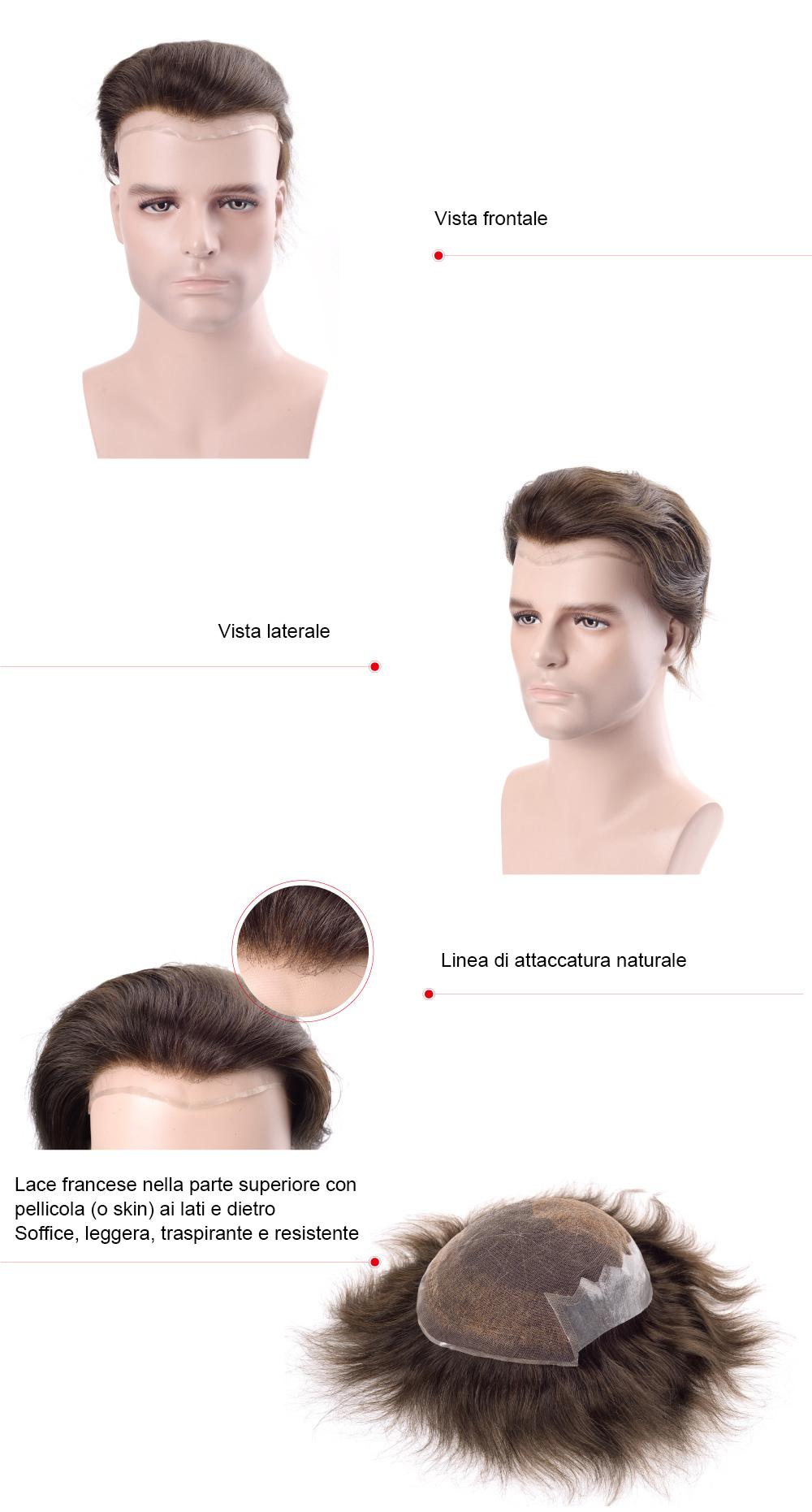 Q6 protesi capelli uomo