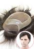 L4: Protesi Capillare da Uomo in Fine Welded Mono e Perimetro in Pelle