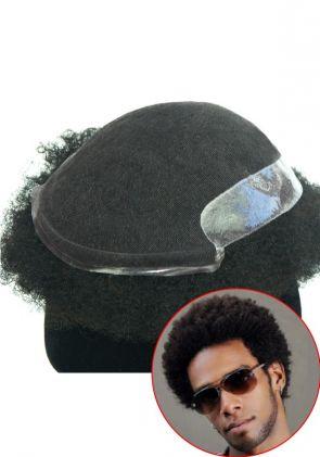 Protesi di Capelli Ricci Afro Traspirante
