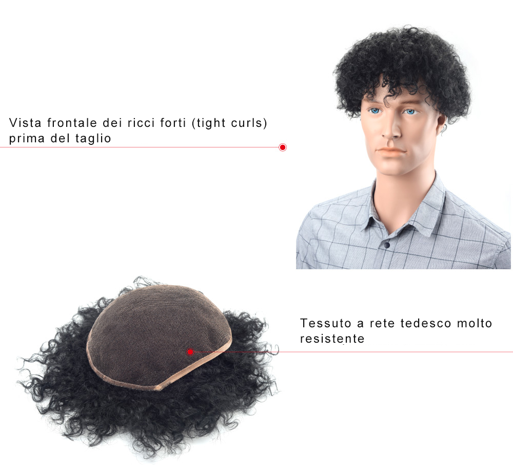 S6 protesi capelli tessuto a rete tedesco