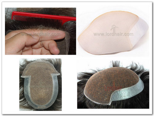 Full lace base with replaceable front section hair replacement system